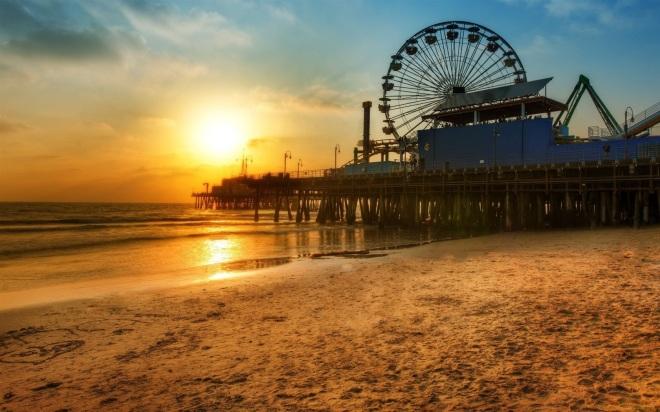Los-Angeles-dock-Ferris-wheel-Beach-sunset_1680x1050