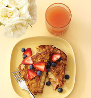 Banana-stuffed French toast, from Self magazine.