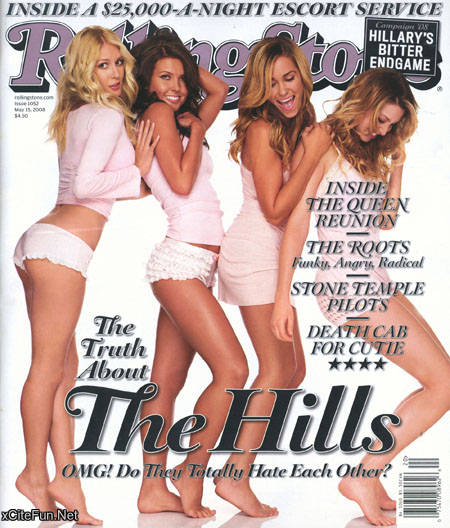 Heidi, Audrina, Lauren, & Whitney on Rolling Stone's May 2008 cover.