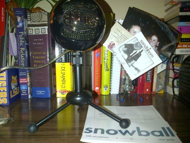 My fancy new microphone.