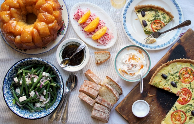 Spring brunch menu from Saveur