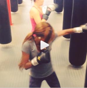 Me & my workout partner kicking it!