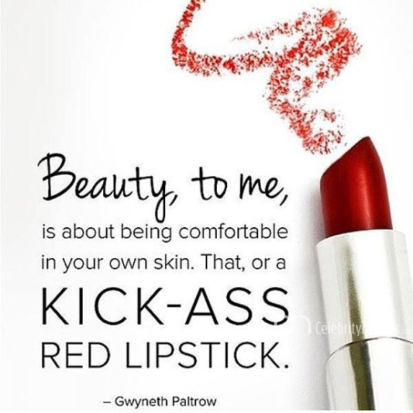 Keep calm, and red lipstick on...