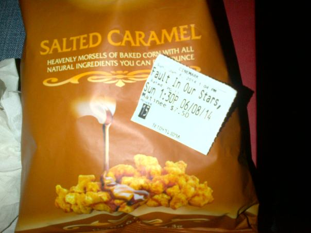 Yes, I snuck in my own salted caramel corn.