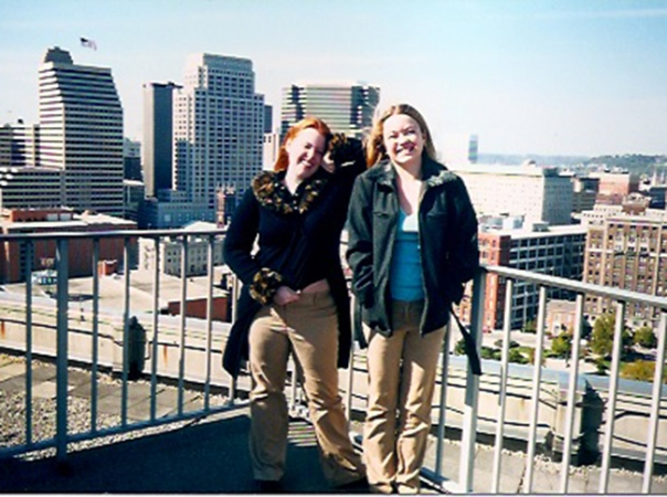 Angela & I in Cincinnati, Ohio.