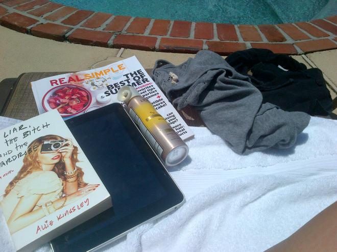 Poolside tools.