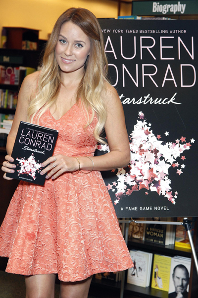 """LC"" & her book."