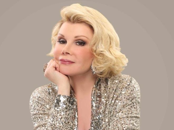 Joan, in complete glitz.