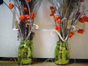 Mason jar arrangements