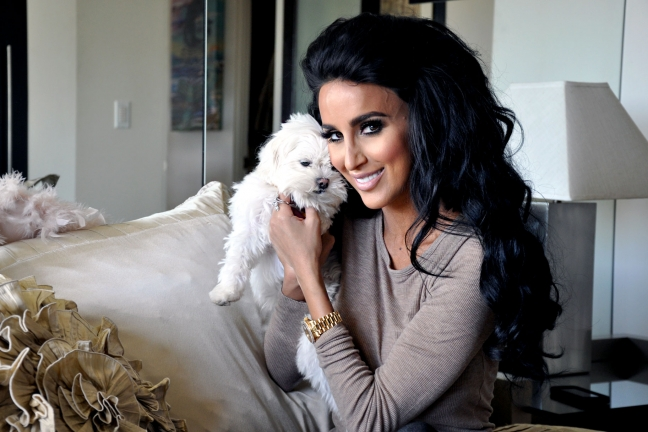Lily Ghalichi looking perfect.