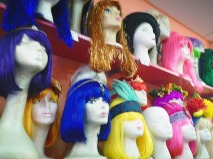 Sparkly wigs