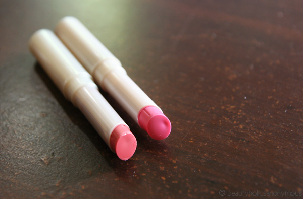 Carmex in Pink and Peach tint.