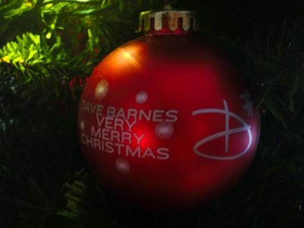 Autographed Dave Barnes ornament