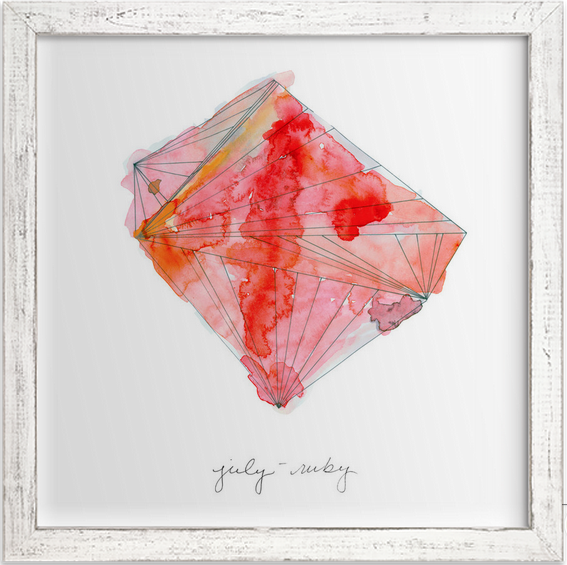 July - Ruby, Limited edition print by Naomi Ernest.