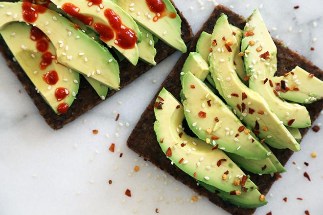Pre-workout avocado toast.