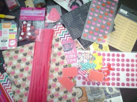 Craft supplies for Valentine's Day!