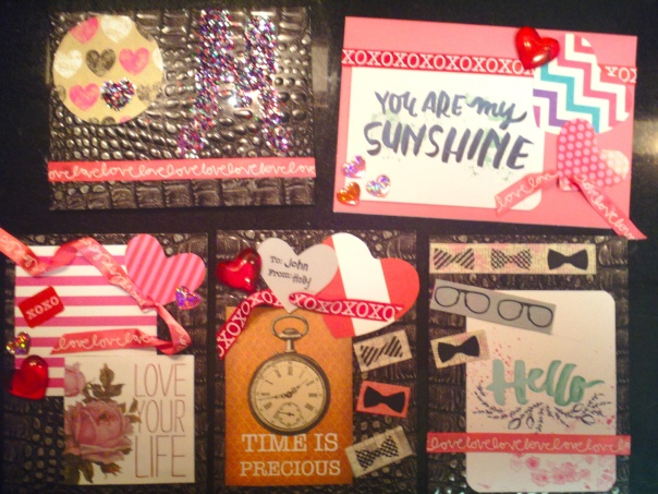 Some of my finished Valentines.