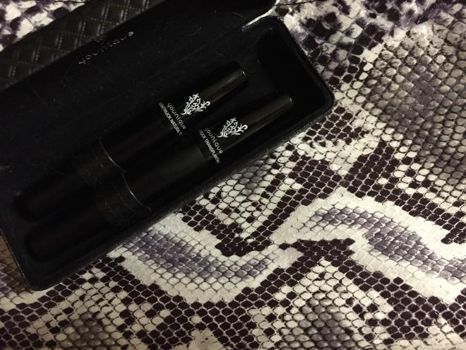 Younique 3D Fiber Lashes & my new python makeup bag (!).