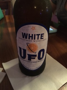 A UFO White ale at The Flying Harpoon in Orange Beach.
