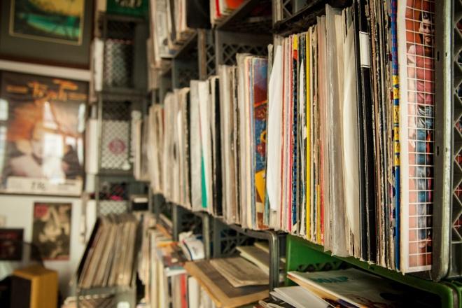 Impressive record collection.