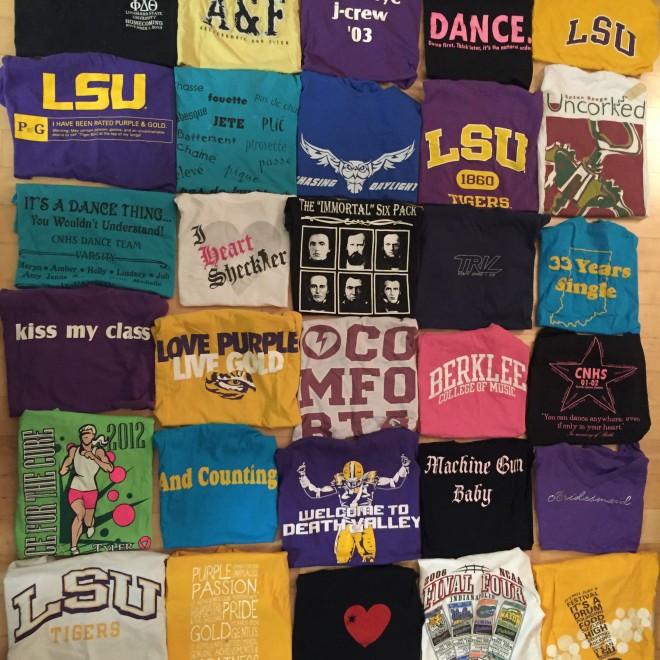 T-shirts full of memories...