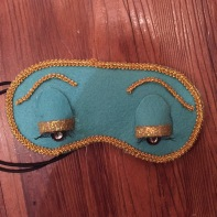 Finished eye mask.