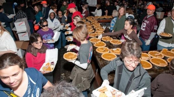 Thanksgiving volunteer efforts.