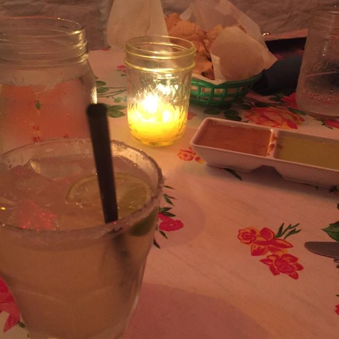 Margaritas and salsa at Licha's Cafe.