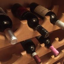 Wine is stocked.