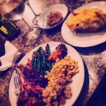 Thanksgiving feast at Case de Blanche.