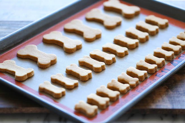 Homemade dog treats are the surefire way to win your man over.