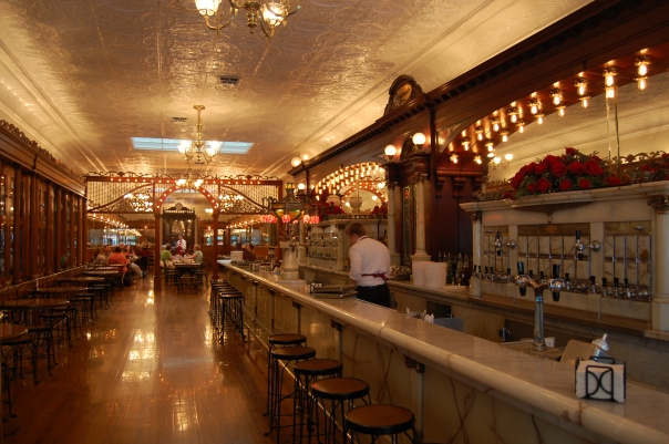 Zaharako's soda fountain in Columbus, Indiana.