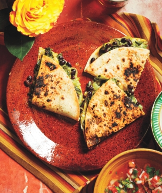 Poblano quesadillas.