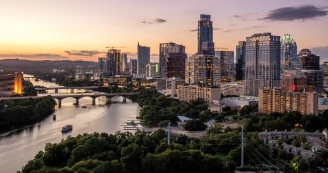 Beautiful pic of downtown Austin.