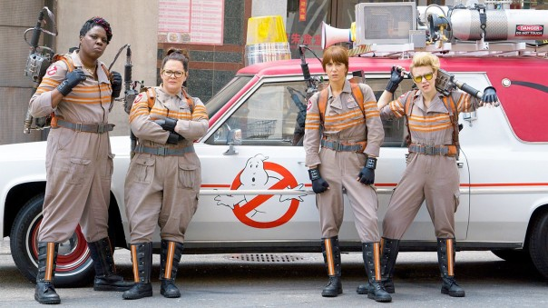 "The ladies of the new ""Ghostbusters"" movie."