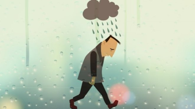 Always under a rain cloud.