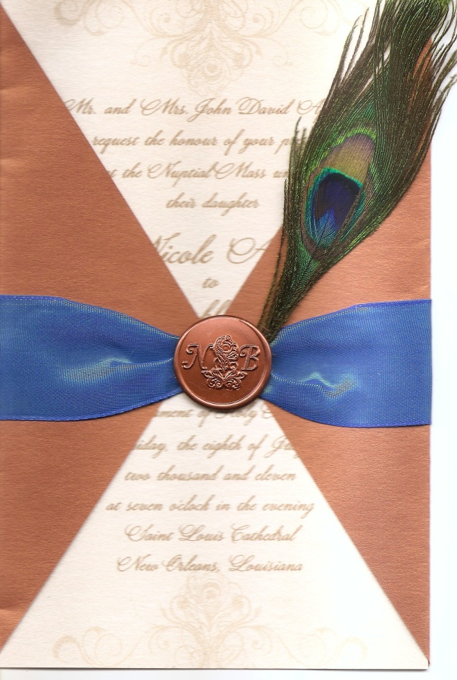Invitation from a fancy New Orleans wedding I was in.