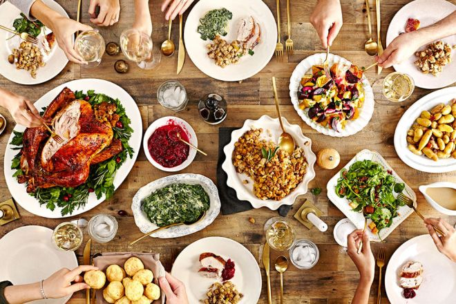 A perfect Thanksgiving spread from Saveur.
