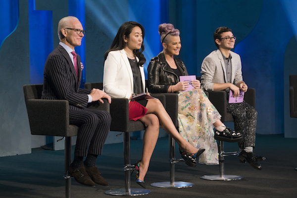 The judges' panel for 'Project Runway Junior'.