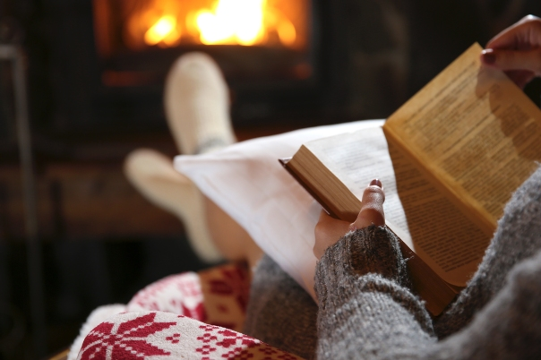 Nothing like reading by the fire.