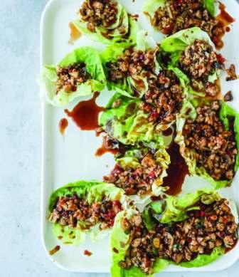 Low-carb chicken lettuce wraps.