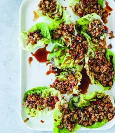 Low-carb chicken lettuce wraps.