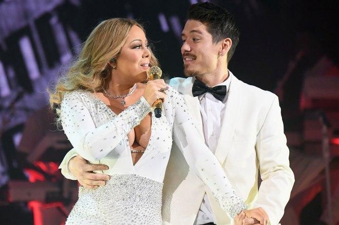 Mariah Carey and her boyfriend/dancer Tanaka.