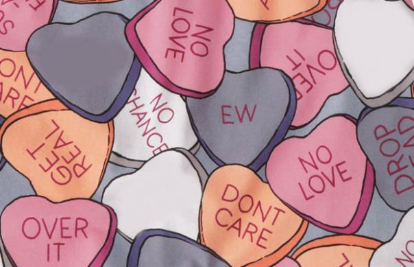 These are the right kind of candy hearts.
