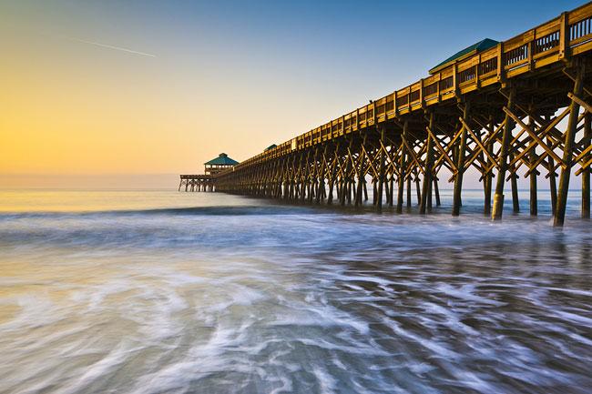 The pier at Folly Beach, South Carolina.
