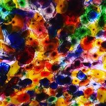 Bellagio Hotel Lobby ceiling art.