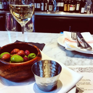 Olives + wine