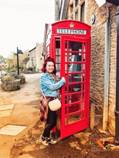 Frist phone booth sighting in Castle Combe!