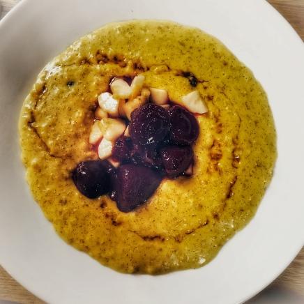 Porridge for breakfast in Bath.