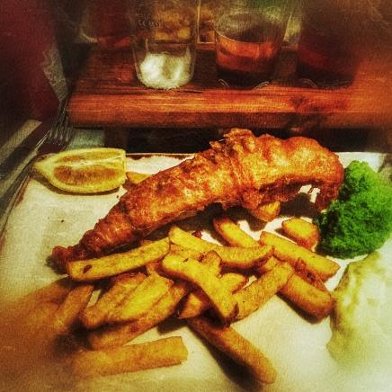 Fish & chips in Trafalgar Square!